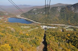 Cannon Mountain Aerial Tramway in White Mountains of New Hampshire