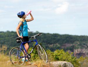 Biking on the Franconia Notch Bike Trail in the White Mountains